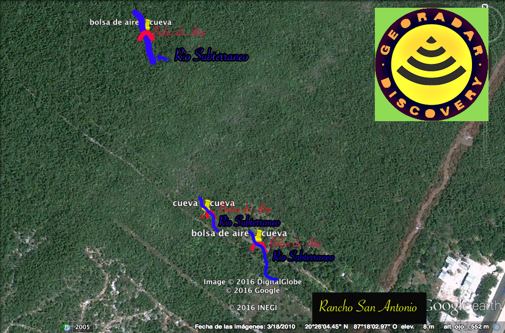 Georadar encuentra Cenote